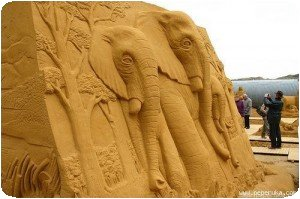 Eléphants en sable