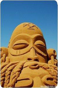 Tête sculptée africaine