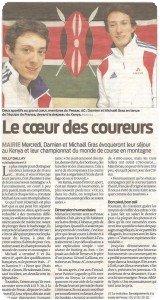 Article de presse sur Damien et Michael Gras