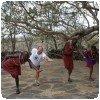 Maasais et yoga