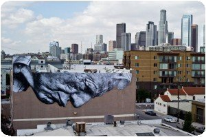 Artiste JR à Los Angele - The Wrinkles of the City