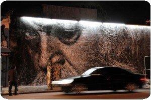 Artiste JR à Los Angele - The Wrinkles of the City