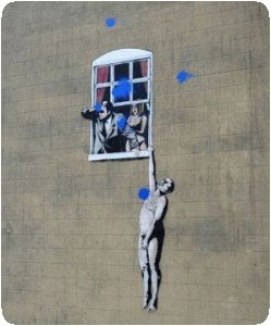 Banksy vandalisé