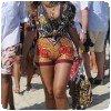 Beyoncé en wax africain à St Tropez, en août 2010