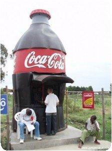 Bouteille de coke géante