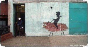 Banksy - Cheval