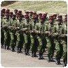 Préparatifs de la parade militaire à Nairobi