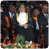 El-Bechir au Kenya lors de la cérémonie de promulgation de la nouvelle constitution