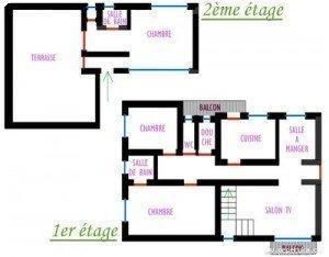Notre appartement - Un plan grossier