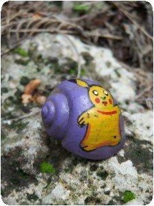 Un escargot peint !!