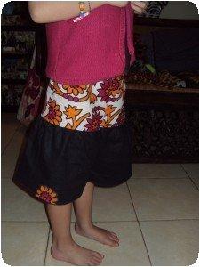 jupe culotte kanga