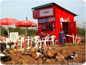 Un kiosk Coca Cola