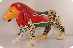 Statue de lion à Nairobi (Kenya)