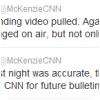 McKenzie s´excuse sur Twitter