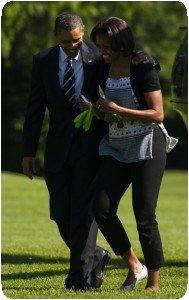 Michelle Obama en habit kanga