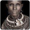 Photo noir et blanc d'un habitant du nord Kenya par John Kenny