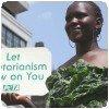 Michelle Odhiambo de PETA en feuilles d´épinard