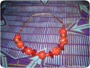 Collier marron/or (2)