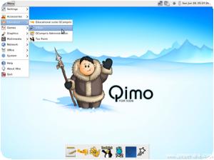 Vue du Desktop de Qimo