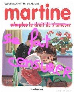 Horreur !! Martine censurée !!