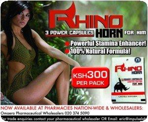 Corne de rhinocéros en capsule (Kenya)