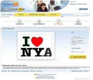 Interface de Timbramoi sur le site de La Poste
