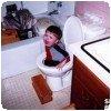 Tombé dans les toilettes