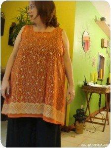 Tunique sari finie