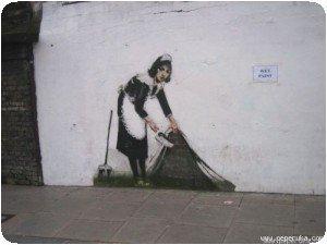 Banksy - Sous le mur