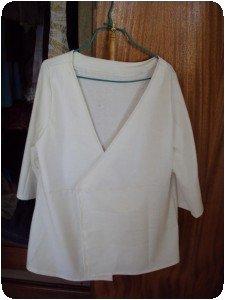 Veste croisée blanche