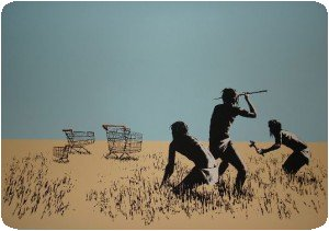 """Trolleys"" de Banksy (à traduire par caddies)"