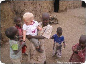 Au milieu des enfants !!